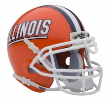 Illinois Fighting Illini Schutt Authentic Mini Helmet