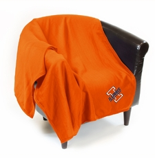 Illinois Fighting Illini Sweatshirt Throw Blanket