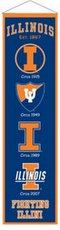 Illinois Fighting Illini Wool 8x32 Heritage Banner