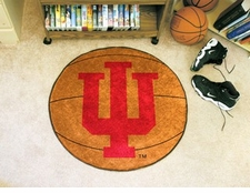 "Indiana Hoosiers 27"" Basketball Floor Mat"