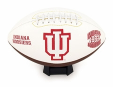 Indiana Hoosiers Fotoball Signature Embroidered Full Size Football