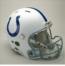 Indianapolis Colts Full Size Riddell Revolution NFL Helmet