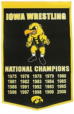 Iowa Hawkeyes 24 x 36 Wrestling Dynasty Wool Banner
