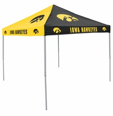 Iowa Hawkeyes Black / Yellow Logo Canopy Tailgate Tent