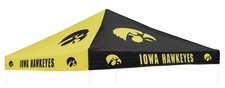 Iowa Hawkeyes Black / Yellow Tent Replacement Canopy