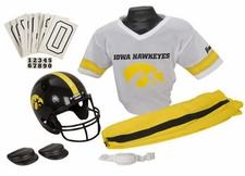 Iowa Hawkeyes Deluxe Youth / Kids Football Helmet Uniform Set