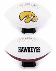 Iowa Hawkeyes Full Size Signature Embroidered Football