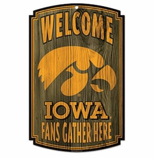 Iowa Hawkeyes Wood Sign
