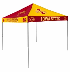 Iowa State Cyclones Red / Yellow Checkerboard Logo Canopy Tailgate Tent