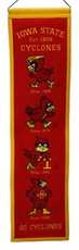 Iowa State Cyclones Wool 8x32 Heritage Banner