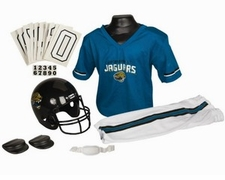 Jacksonville Jaguars Deluxe Youth / Kids Football Uniform Set