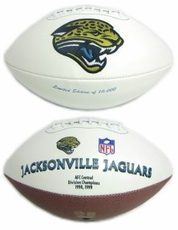 Jacksonville Jaguars Embroidered Autograph Signature Series Football