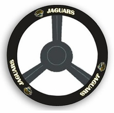 Jacksonville Jaguars Leather Steering Wheel Cover