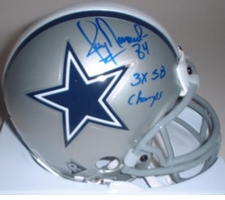 Jay Novacek Dallas Cowboys Autographed Mini Helmet