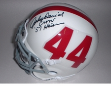 John David Crow Heisman Autographed Texas A&M Aggies Mini Helmet
