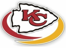 Kansas City Chiefs 12 x 12 Die-Cut Window Film Decal