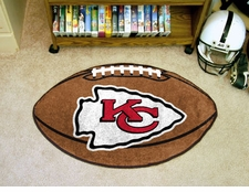 "Kansas City Chiefs 22""x35"" Football Floor Mat"