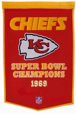 Kansas City Chiefs 24 x 36 Wool Dynasty Banner