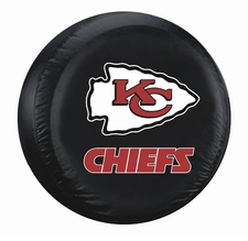 Kansas City Chiefs Black Large Spare Tire Cover