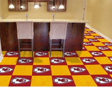 "Kansas City Chiefs Carpet Tiles - 20 18"" x 18"" Tiles"