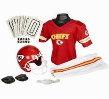 Kansas City Chiefs Deluxe Youth / Kids Football Uniform Set