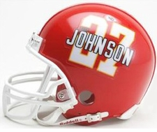 Kansas City Chiefs Larry Johnson Riddell Replica Player Mini Helmet