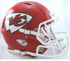 Kansas City Chiefs Revolution Speed Riddell Authentic Helmet