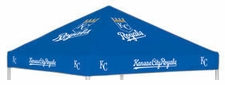 Kansas City Royals Blue Logo Tailgate Tent Replacement Canopy Top