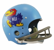 Kansas Jayhawks 1964 Riddell NCAA TK 2-Bar Suspension Throwback Full Size Helmet