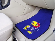 Kansas Jayhawks 2-Piece Carpeted Car Mats Front Set
