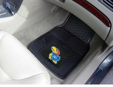 Kansas Jayhawks 2-Piece Heavy Duty Vinyl Car Mat Set