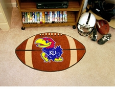 "Kansas Jayhawks 22""x35"" Football Floor Mat"
