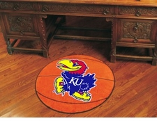 "Kansas Jayhawks 27"" Basketball Floor Mat"