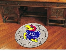 "Kansas Jayhawks 27"" Soccer Ball Floor Mat"