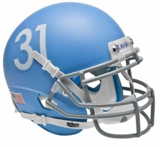 Kansas Jayhawks Alt Columbia Blue Schutt Authentic Mini Helmet
