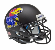 Kansas Jayhawks Black Schutt XP Authentic Mini Helmet