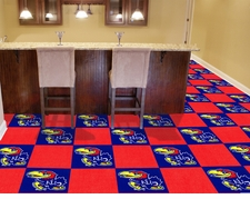 Kansas Jayhawks Carpet Tiles - 20 18x18 Square Tiles