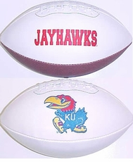 Kansas Jayhawks Fotoball Signature Embroidered Full Size Football
