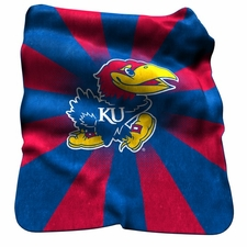 Kansas Jayhawks Raschel Throw
