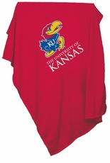 Kansas Jayhawks Red Sweatshirt Blanket