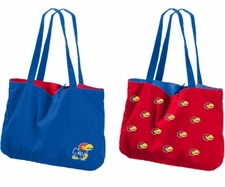 Kansas Jayhawks Reversible Tote Bag
