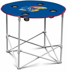 Kansas Jayhawks Round Tailgate Table