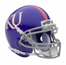 Kansas Jayhawks Blue Schutt Authentic Mini Helmet