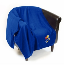 Kansas Jayhawks Sweatshirt Throw Blanket