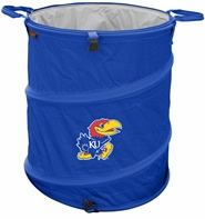 Kansas Jayhawks Tailgate Trash Can / Cooler / Laundry Hamper