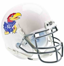 Kansas Jayhawks White Schutt Authentic Mini Helmet