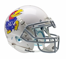 Kansas Jayhawks White Schutt XP Authentic Helmet