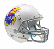 Kansas Jayhawks White Schutt XP Full Size Replica Helmet
