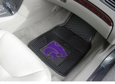 Kansas State Wildcats 2-Piece Heavy Duty Vinyl Car Mat Set