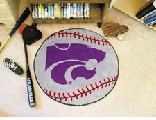"Kansas State Wildcats 27"" Baseball Floor Mat"